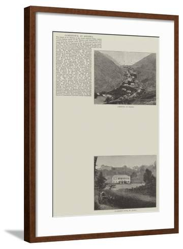 Sketches of St Helena--Framed Art Print
