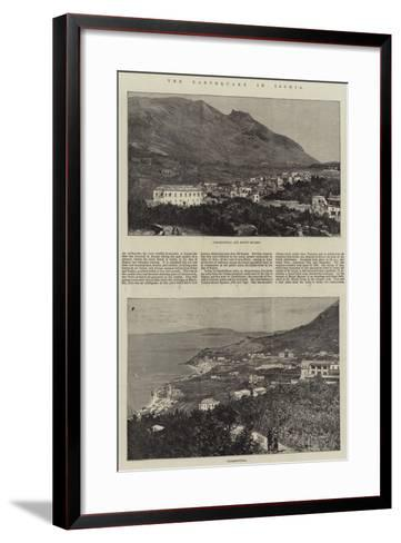 The Earthquake in Ischia--Framed Art Print