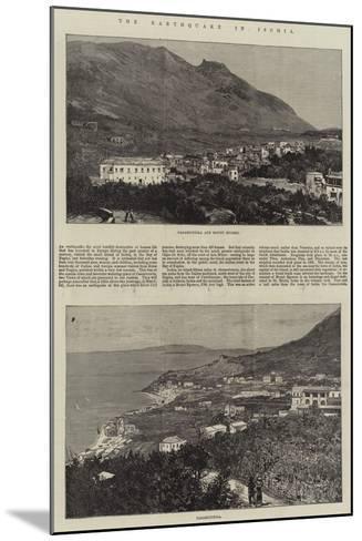 The Earthquake in Ischia--Mounted Giclee Print