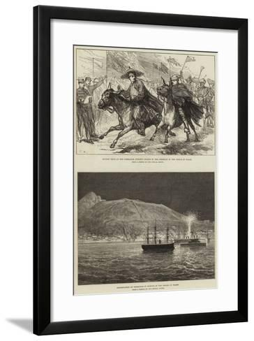 Royal Visit to Gibraltar--Framed Art Print