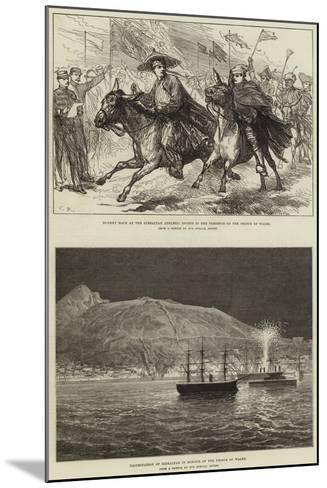 Royal Visit to Gibraltar--Mounted Giclee Print
