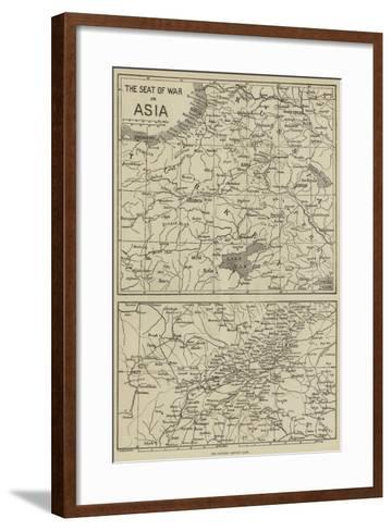 The Seat of War in Asia--Framed Art Print
