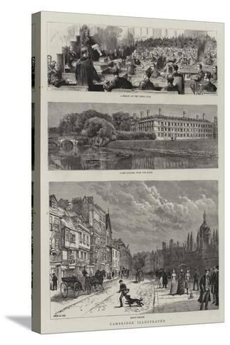 Cambridge Illustrated--Stretched Canvas Print