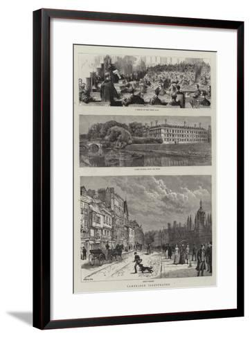 Cambridge Illustrated--Framed Art Print