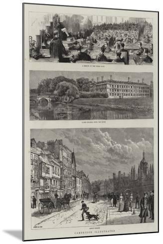 Cambridge Illustrated--Mounted Giclee Print