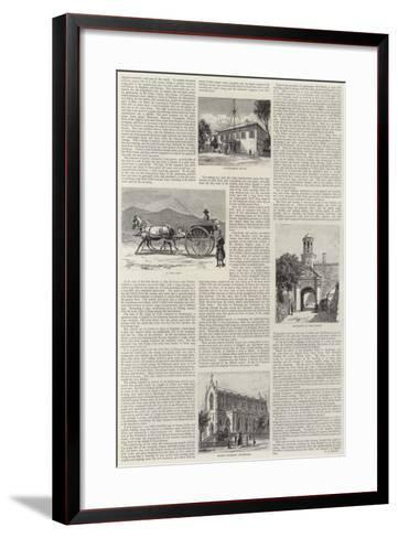Cape Town Illustrated--Framed Art Print