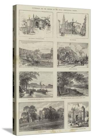 Sketches of Nottingham--Stretched Canvas Print