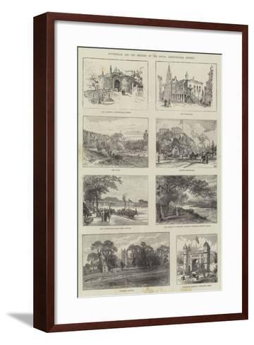 Sketches of Nottingham--Framed Art Print