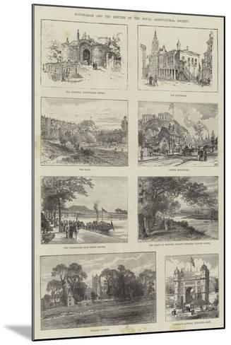 Sketches of Nottingham--Mounted Giclee Print