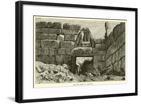 Gate of Lions at Mycenae--Framed Art Print