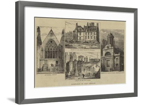 Sketches in Old London--Framed Art Print