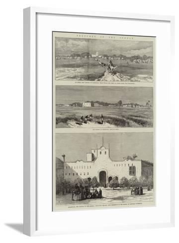 Sketches in the Soudan--Framed Art Print