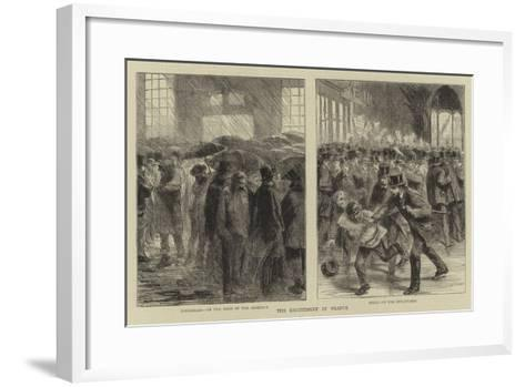 The Excitement in France--Framed Art Print
