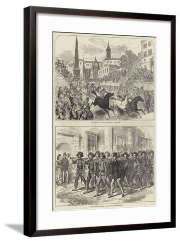 Prince Arthur in Rome--Framed Art Print