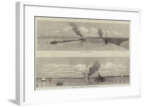 The Amsterdam Sea Canal--Framed Art Print