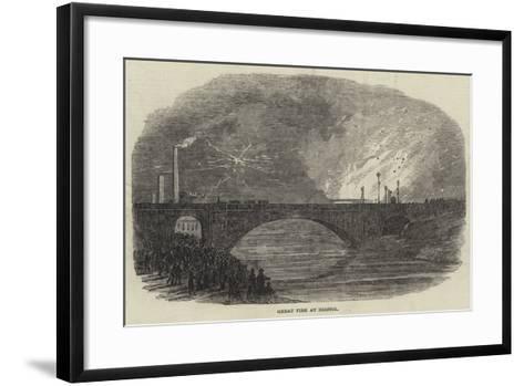 Great Fire at Bristol--Framed Art Print