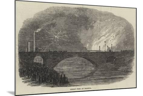 Great Fire at Bristol--Mounted Giclee Print