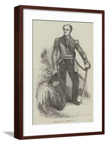 Portrait of Lord Hill--Framed Art Print