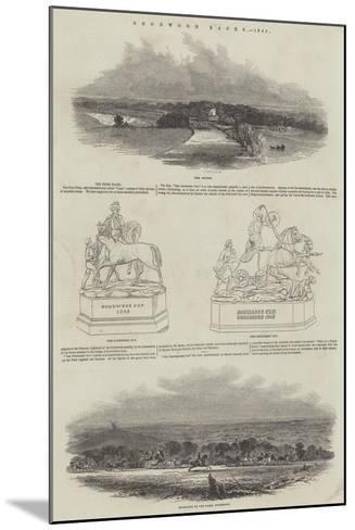 Goodwood Races, 1845--Mounted Giclee Print