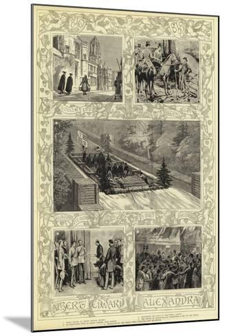 Albert and Alexandra--Mounted Giclee Print