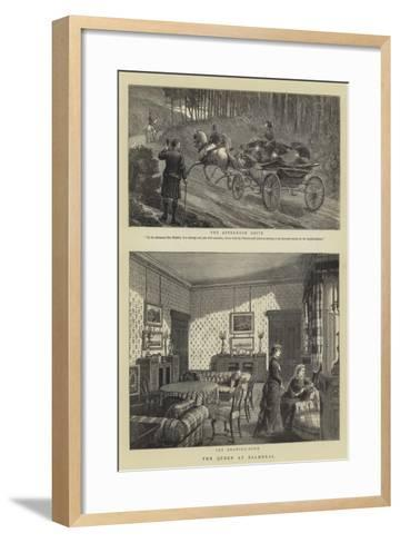 The Queen at Balmoral--Framed Art Print