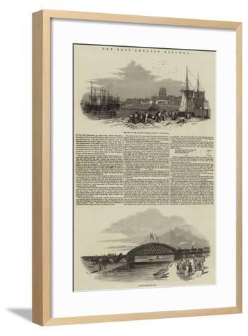 The East Anglian Railway--Framed Art Print