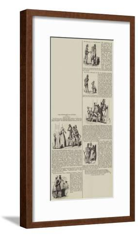 The Itinerary of London--Framed Art Print