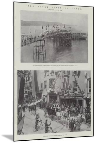 The Royal Visit to Tenby--Mounted Giclee Print