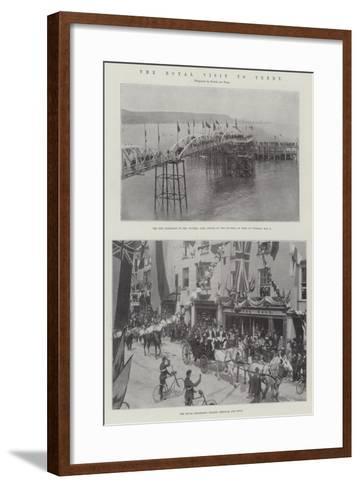 The Royal Visit to Tenby--Framed Art Print