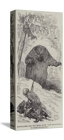 Munchausen and the Bear--Stretched Canvas Print