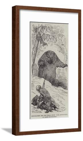 Munchausen and the Bear--Framed Art Print