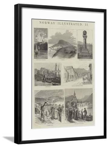 Norway Illustrated--Framed Art Print