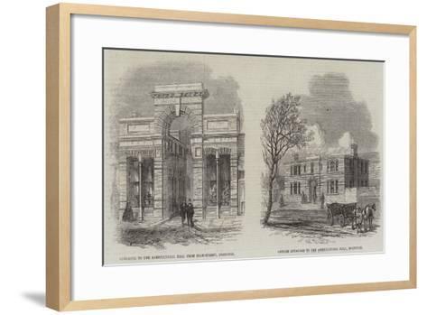 Agricultural Hall--Framed Art Print