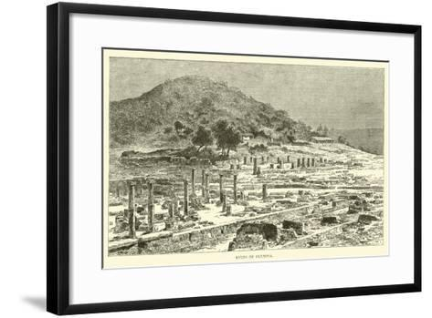 Ruins of Olympia--Framed Art Print