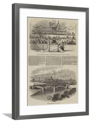 Sketches in Hereford--Framed Art Print