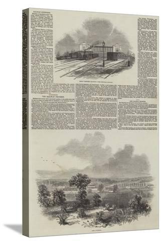 The Railway Progress--Stretched Canvas Print