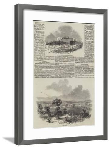 The Railway Progress--Framed Art Print