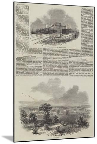 The Railway Progress--Mounted Giclee Print