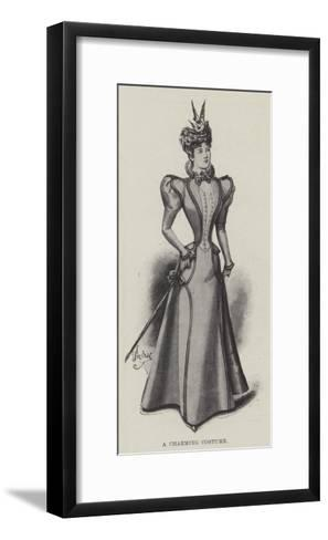 A Charming Costume--Framed Art Print