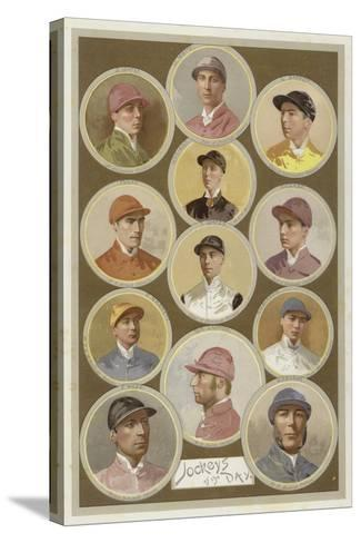 Jockeys of the Day--Stretched Canvas Print
