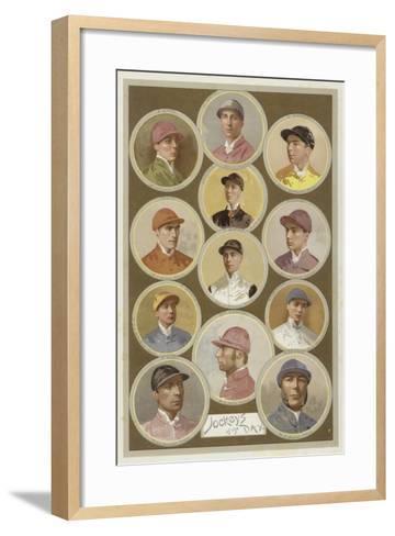 Jockeys of the Day--Framed Art Print