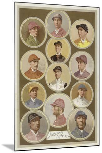 Jockeys of the Day--Mounted Giclee Print