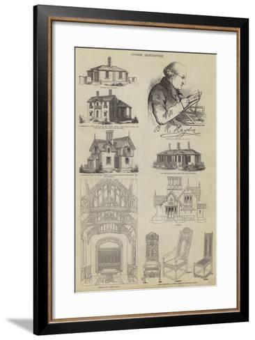 Cottage Architecture--Framed Art Print
