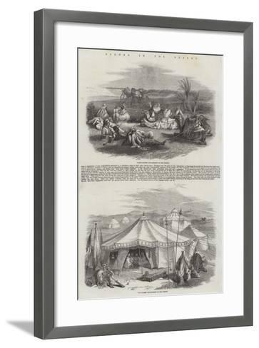 Scenes in the Desert--Framed Art Print