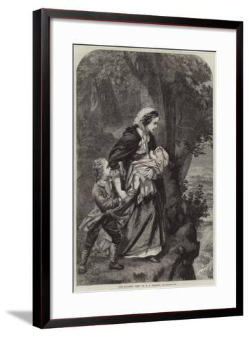 The Soldier's Wife--Framed Art Print