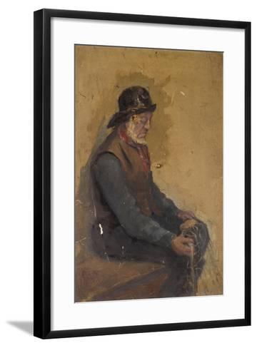 Seated Fisherman--Framed Art Print