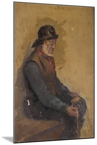 Seated Fisherman--Mounted Giclee Print