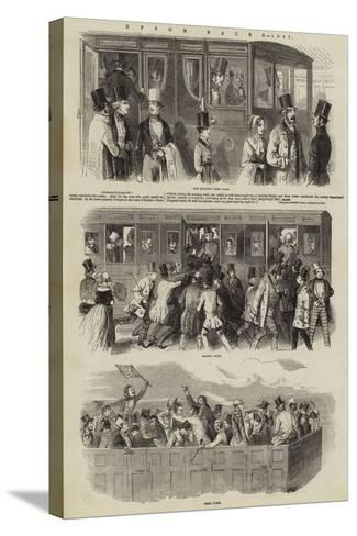 Epsom Races, 1847--Stretched Canvas Print