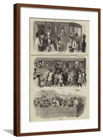 Epsom Races, 1847--Framed Art Print