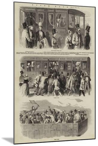 Epsom Races, 1847--Mounted Giclee Print